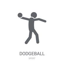 Dodgeball Icon. Trendy Dodgeba...