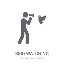 Bird Watching Icon. Trendy Bir...