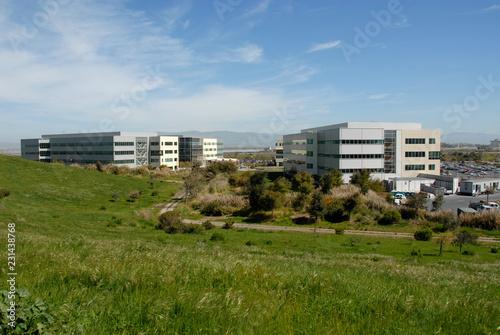 Tuinposter Stad gebouw Office park