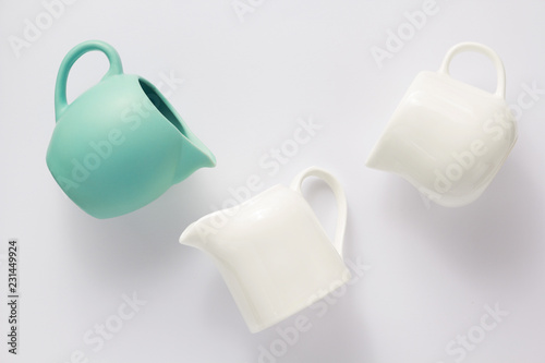 Fotografie, Obraz empty cream jug on white background