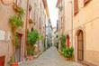 narrow streets of Marta burg on Bolsena lake