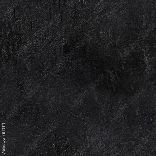 A seamless pattern of an abstract black slate background, a dark texture with a Fototapet