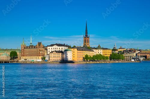 Photo  Riddarholmen island with Riddarholm Church spires, Stockholm, Sweden