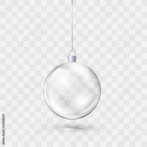Fotomural Glass transparent Christmas ball