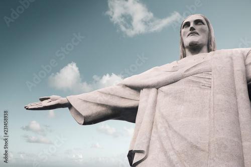Foto op Plexiglas Amerikaanse Plekken Christ the Redeemer (Cristo Redentor) statue in Rio de Janeiro, Brazil