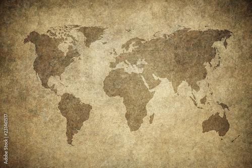 Fototapety, obrazy: grunge map of the world