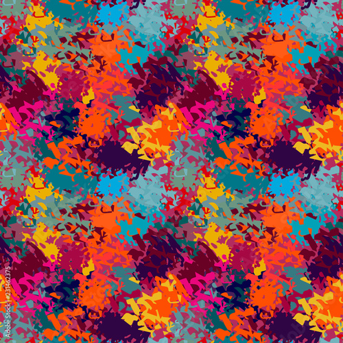 Fototapety, obrazy: Abstract art grunge colorful seamless pattern