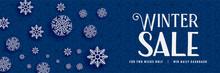 Winter Sale Snowflakes Bacnner Design