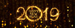Leinwanddruck Bild - Wide Angle holiday web banner Happy New Year 2019
