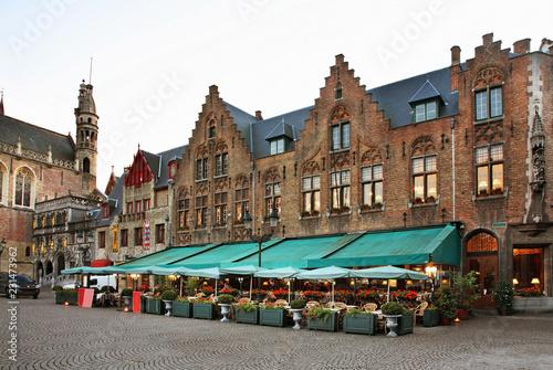 Foto op Plexiglas Brugge Markt - Market square in Bruges. Belgium