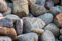 A Pile Of Large Cobblestones