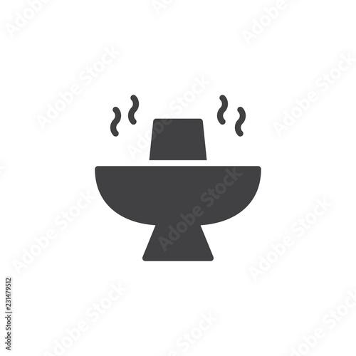 Fotografie, Obraz  Hot pot food vector icon