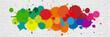 Leinwandbild Motiv Taches colorées