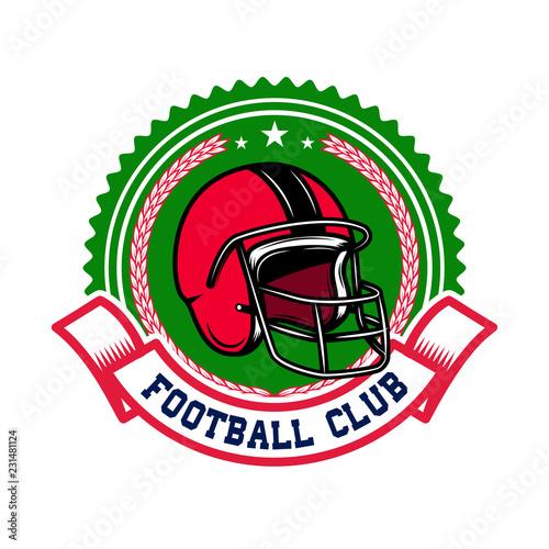 Fotografía  American football emblem template