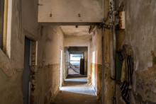 Corridor In Abandoned Factory ...