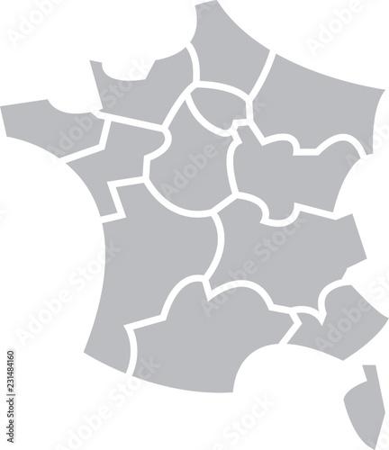 carte de france stylisée Carte de France stylisée 13 régions   Buy this stock vector and