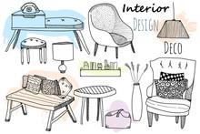 Interior Design Furniture Set