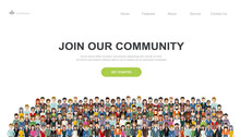 Join Our Community. Crowd Of U...