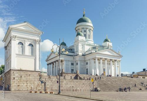 Obraz na plátně Dom von Helsinki am Senatsplatz