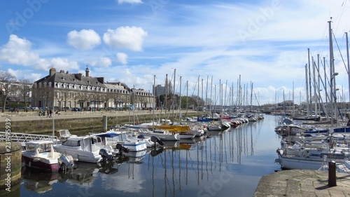 Canvas Prints Port Port de plaisance de Lorient, en Bretagne (France)
