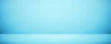 Soft Blue Room Studio Wall Banner And Blank Background