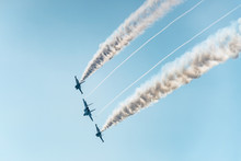 Military Fighters Fly In Formation