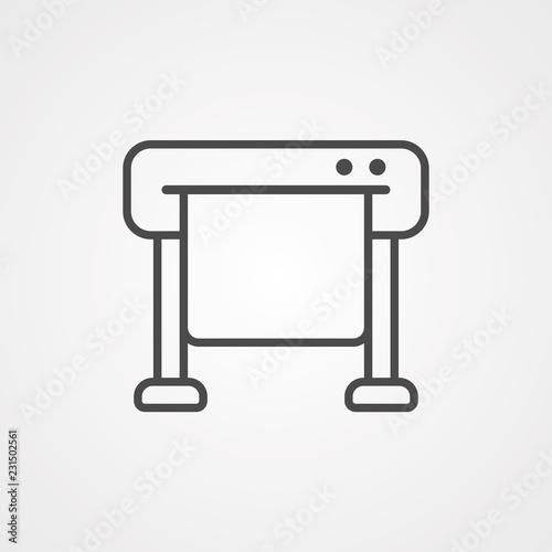 Fototapeta Plotter vector icon sign symbol obraz