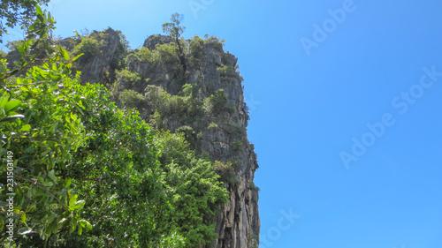 beautiful sea mountain and island landscape scene at Pak Meng Beach Trang province,Thailand