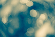Dreamy Teal And Yellow Bokeh Lights For Xmas Backdrop