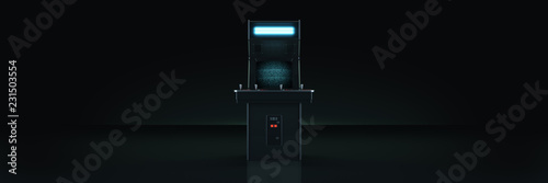 vintage arcade game machine. 3d rendering Fotobehang