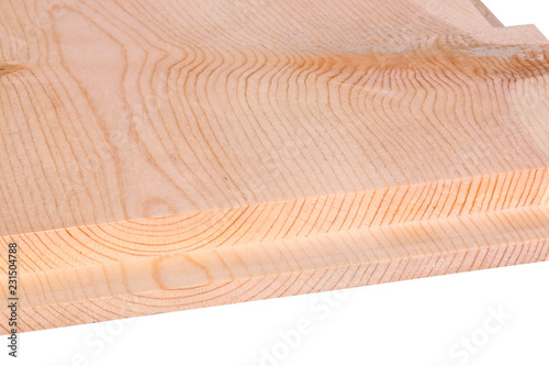 Photo sur Toile Les Textures Close-up of a woodworking rabbet groove isolated