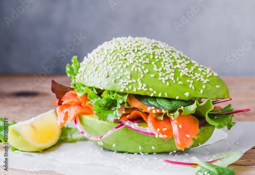 Avocado burger buns healthy raw food copy space.
