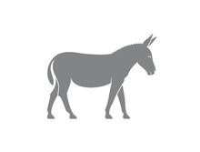 Donkey Logo. Isolated Donkey On White Background