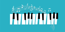 Piano Icon And Keys Of Piano C...