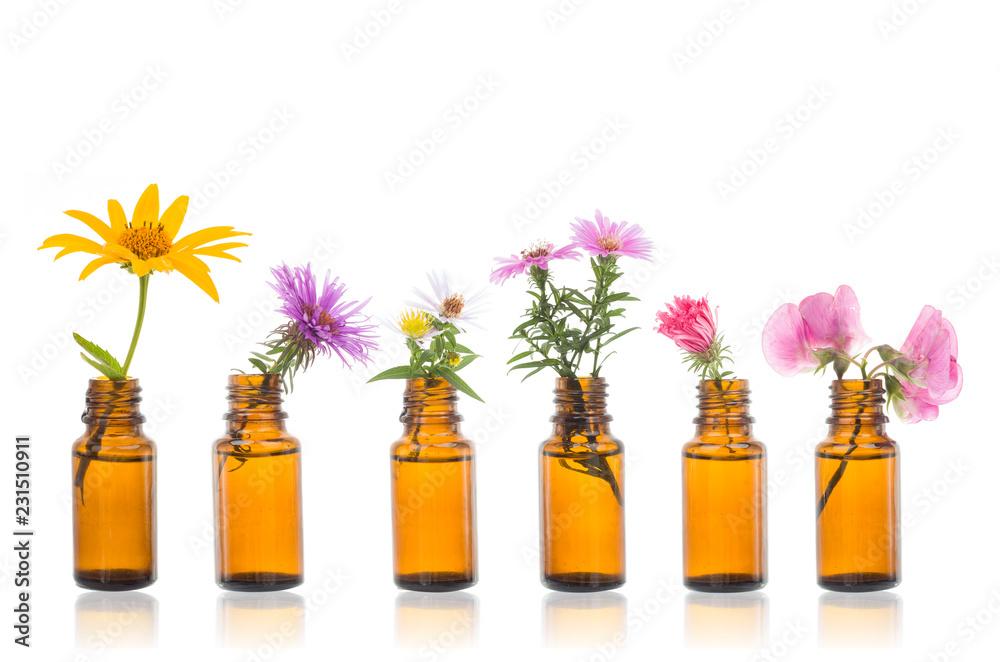 Fototapety, obrazy: Natural remedies, bottle - bach.
