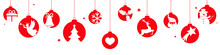 Christmas Banner With Hanging ...