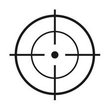 Crosshair Flat Vector Icon. Mo...