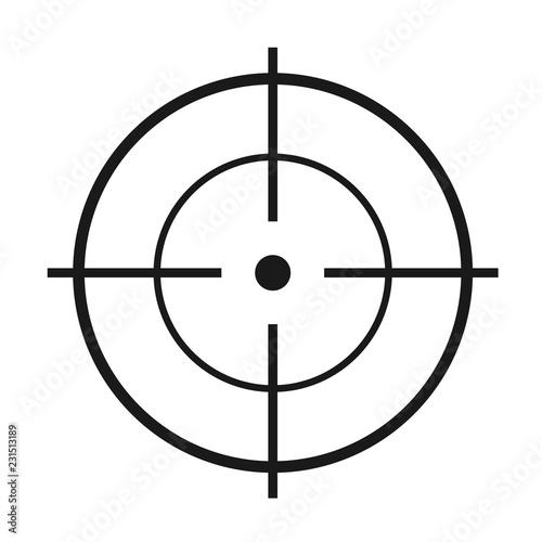 Fotografía  Crosshair flat vector icon
