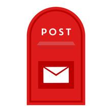 Mailbox. Red Mailbox. Vector Illustration.