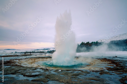 Valokuva  アイスランド 間欠泉