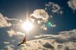 Drachen Sonne Wolken