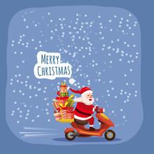 Merry Christmas Happy Santa Cl...