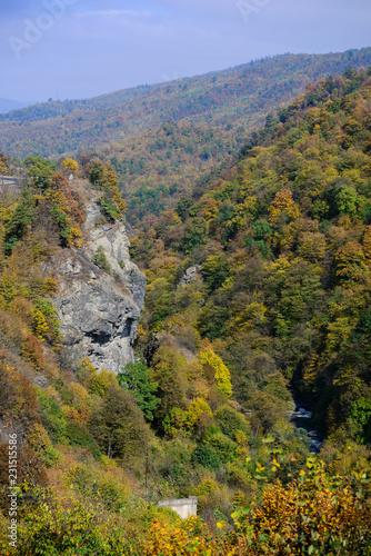 Fotobehang Landschap Fabulous autumn landscape with rockes, Armenia