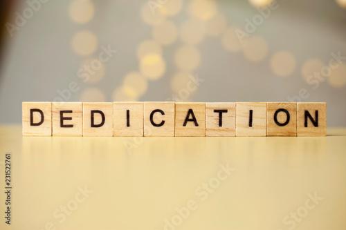 Fotografia  Dedication, Motivational Words Quotes Concept