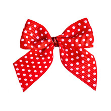 Decorative Red Ribbon Bow With...