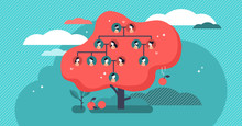 Family Tree Flat Vector Illust...