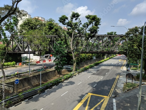 Old Bukit Timah Railway Bridge along Dunearn Road, Singapore Canvas Print