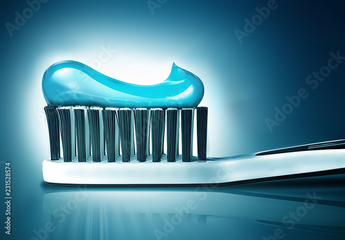 toothbrush with toothpaste Canvas-taulu