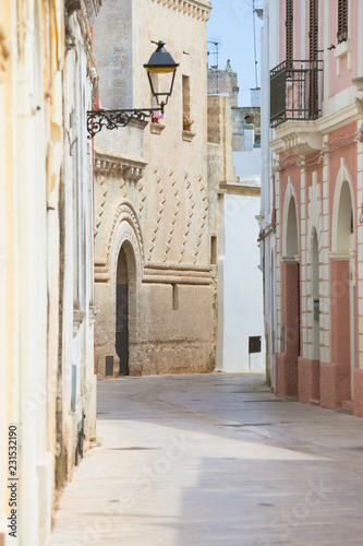 Fototapety, obrazy: Presicce, Apulia - Mediterranean facades in the old town of Presicce