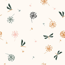 Seamless Pattern Vector  With ...